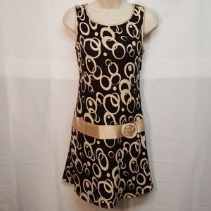 Ruby Rox Sleeveless Faux Belt Dress Sz S